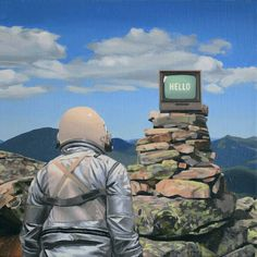 A selection of the recent paintings ofScott Listfield, akaAstronaut Dinosaur, this American artist who invites us to follow the adventures of a poor astrona