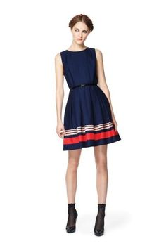 I cannot get behind socks and heels, but this dress is adorable!
