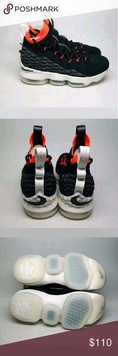 a6dee90b878 Nike Lebron James 15 women s size 7 Gs Nike Lebron James XV GS women s size  7 Black White Sail Crimson New Graffiti These sneakers are converted to  women s ...
