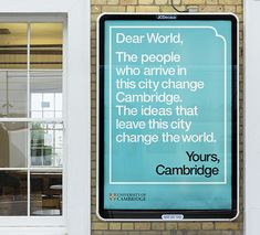 johnson banks writes a letter to the world in new campaign for Cambridge University – Creative Review