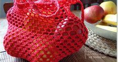 v rámci znižovania spotreby plastových nákupných tašiek si čas od času uháčkujem sieťovku, má množstvo výhod... je malá, skladná, nerozt...