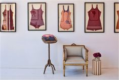 framed vintage bathing suits- I have mine & my brothers that I wanted to frame on top of a picture of us wearing them!