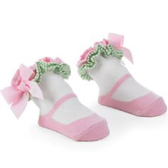 Söckchen weiß rosa - Mud Pie - passend für Kinder von 6 - 12 Monaten