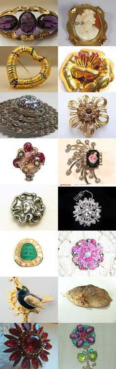 Can't Pass Up Brooches Team Love Daily Treasury by Tracy B on Etsy--Pinned with TreasuryPin.com