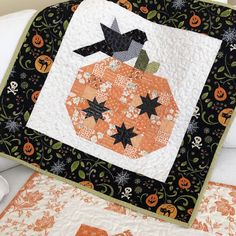 Pumpkin Season Quilt Pattern | Margot Languedoc for The Pattern Basket by SummerTreeShop on Etsy