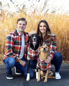 The softest, coziest, Autumn-inspired flannel shirt for you + your pup. #hike #bonfire #familyportrait Twin Outfits, Matching Family Outfits, Plaid Flannel, Flannel Shirt, Fall Family Pictures, Couple Photos, Hipster Dog, Cute Dog Clothes, Dog Shirt