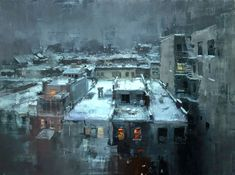 Jeremy Mann, 1979 is an American painter known for working in the Realistic style. For biographical notes on Jeremy Mann see Part 1.