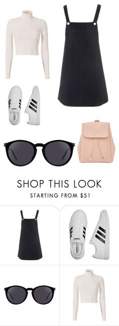 """Untitled #1"" by phoebecollistet ❤ liked on Polyvore featuring Topshop, adidas, Yves Saint Laurent, A.L.C. and New Look"
