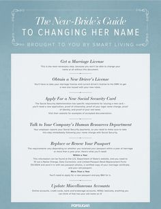 Free Name Change Checklist Easy Name Change  General