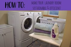 Sustainable Tips for Laundry Room Efficiency |  green living | healthy living | cleaning | IKEA | eco friendly