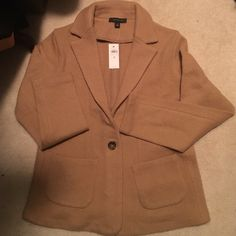 Riding Wool Jacket New jacket. Sold out online. Wool. Camel color. Ann Taylor Jackets & Coats Blazers