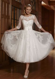 New White/Ivory Short Lace Wedding Dress Bridal Gowns Size UK 6-8-10-12-14-16-18 in Clothes, Shoes & Accessories, Wedding & Formal Occasion, Wedding Dresses | eBay
