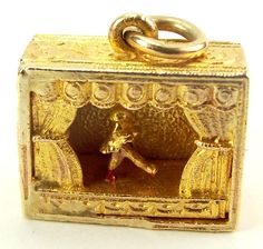 RARE Vintage 9ct Gold Articulated Paris FOLLIES Charm 1952 from m4gso on Ruby Lane