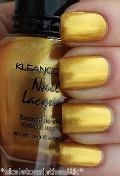 1 New Kleancolor METALLIC YELLOW Nail Polish Lacquer Full Sz