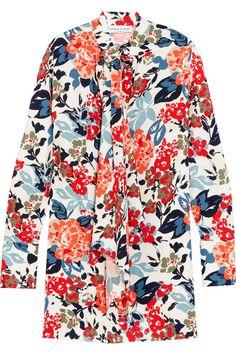 Sonia Rykiel - Floral-print Crepe Mini Dress - Orange - FR38