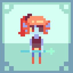 a little pixel undyne! feel free to use her as your icon, but please credit…