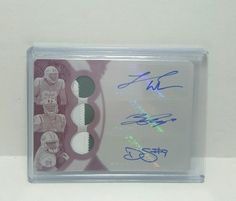 2015 Topps Triple Threads  Triple Relic Pink 1/1 Williams/Petty/Smith Jets