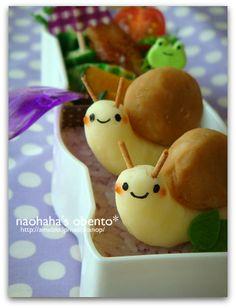 Snail mashed potatoes