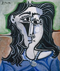 © 2010 Estate of Pablo Picasso/Artists Rights Society (ARS), New York; used with permission - © 2010 Estate of Pablo Picasso / Artists Right. Picasso Cubism Paintings, Kunst Picasso, Art Picasso, Picasso Collage, Face Paintings, Georges Braque, Portraits Cubistes, Cubist Portraits, Pastel Portraits