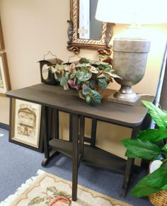 Drop Leaf Table, Black $49.00. - Consign It! Consignment Furniture