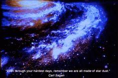 """""""Diante da vastidão do tempo e da imensidão do universo, é um imenso prazer para mim dividir um planeta e uma época com você."""""""