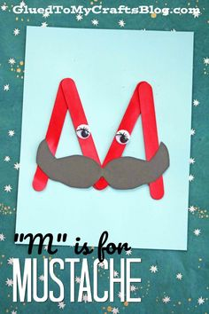Letter of the Week Crafts Part Two - Mommyhooding Letter M activities for preschoolers, toddlers and pre-k students. This cute letter M craft is a fun way to teach the letter M while teaching the alphabet. Preschool Letter Crafts, Alphabet Letter Crafts, Abc Crafts, Craft Stick Crafts, Toddler Crafts, Preschool Activities, Craft Ideas, Alphabet Books, Spanish Alphabet