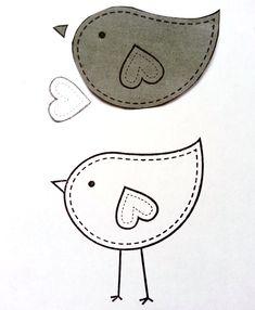 Love Bird Cut Out Template