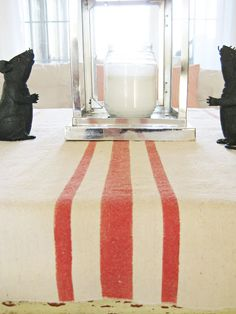 Happy At Home: Painted Table Runner