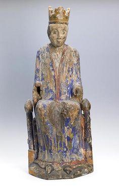 02.025.0453.09032 Vierge assise couronnée - Besançon, musée des beaux-arts et d'archéologie