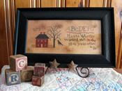 Red House Sampler - Cross Stitch by Falling Star Primitives Cross Stitch House, Cross Stitch Samplers, Cross Stitching, Cross Stitch Embroidery, Cross Stitch Patterns, Dragon House, Primitive Crafts, Primitive Country, Falling Stars