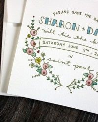 ROUNDUP of wedding Invite designs and the designers - Oh So Beautiful Paper blog