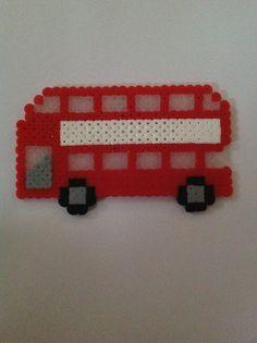 Perler bead London bus by Julie Rodriguez