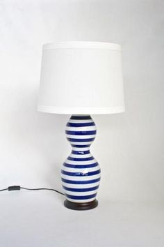 Stripe lamp blue – Unique Wood