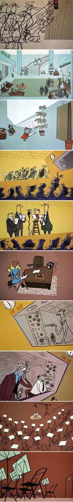 Stills from Gerald McBoing Boing's Symphony (UPA, 1953)