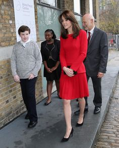 Catherine, Duchess of Cambridge attends the Anna Freud Centre Family School Christmas Party at Anna Freud Centre on December 15, 2015 in London.