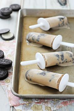 Coffee Coconut Milk Cookies & Cream Popsicles - Cookie Monster Cooking
