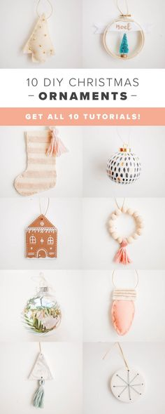 10 DIY Christmas Ornaments that are modern and minimal! #diyornaments #christmasdecor #christmasornaments