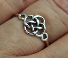 Sterling silver celtic knot ring knot ring by CapturedIllusions