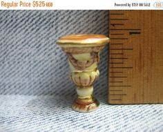 SALE Lovely Miniature Classical VASE Urn Planter  - French Feve Feves Porcelain Figurines Doll House Miniatures Mini charm B2 by ValueARTifacts on Etsy