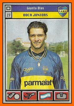 Blas Giunta of Boca Juniors & Argentina in 1995.