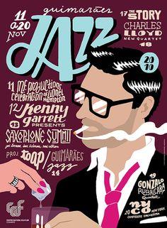 Guimarães Jazz Festival 搶眼的海報設計 | ㄇㄞˋ點子靈感創意誌