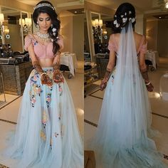 Mehendi - Floral Fantasy OOTD wearing @falgunishanepeacock and hair and make up by the amazing @dressyourface #roshiniandraj #thatbrideposh