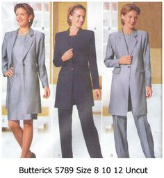 Butterick++5789++Misses+Suit+Pattern+Hip+Length+Jacket++Skirt+Pants+Top+Size+8+10+12+Uncut