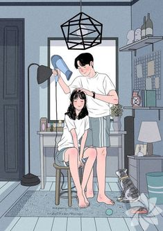 Illustrations Discover This Korean Artist Giving Serious Through His Illustration Drawing Painting Love Couple Art Love Couple Cute Couple Drawings Cute Drawings Art And Illustration Cartoon Art Styles Dibujos Cute Couple Cartoon Korean Artist Love Cartoon Couple, Cute Love Cartoons, Anime Love Couple, Paar Illustration, Couple Illustration, Character Illustration, Korean Illustration, Landscape Illustration, Cute Couple Drawings