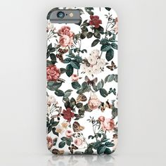 Check out society6curated.com for more! @society6 #floral #flowers #pattern #phone #case #phonecase #accessory #accessories #fashion #style #buy #shop #sale #cool #sweet #rad #awesome #fun #beautiful #beauty #pretty #botanical #iphone #products #product  #botanical #butterflies #butterfly #green #red #white