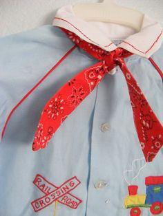vintage baby boy train shirt.