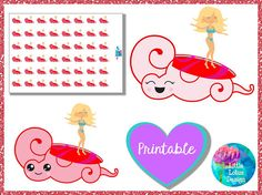 Period Tracker printable stickers : Crimson Wave - Blonde, period planner stickers, period tracker, menstruation, menses