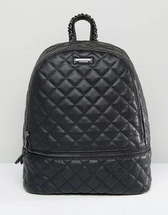d7bd54d9c391 ALDO Quilted Backpack in Black Aldo Backpack, Backpack Purse, Black Backpack,  Leather Backpack
