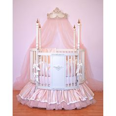 I have ALWAYS said that when I have a baby, it WILL have a round crib!!!