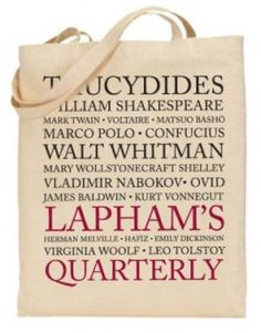 Lapham's Quarterly Tote Bag